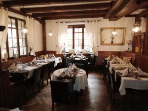 salle à manger restaurant de l'Ange à Niedermorschwihr